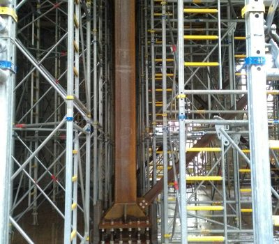 Staxo With Temporary Works To 8M High Slab